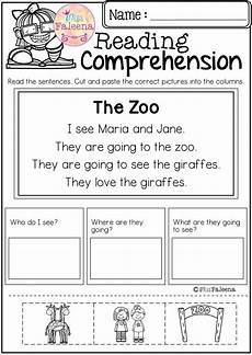 free reading comprehension cut and paste march has 10 pages of reading comprehension with cut