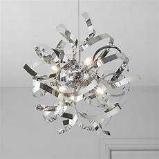 heka curled chrome effect 6 l pendant ceiling light departments diy at b q