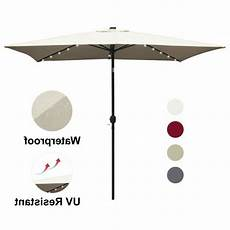 abccanopy rectangular patio umbrella solar powered outdoor umbrellas