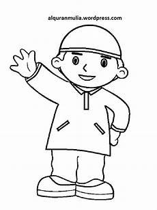 Mewarnai Gambar Kartun Anak Muslim 39 Alqur Anmulia
