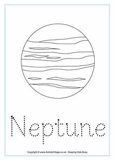 neptune planet worksheet neptune word tracing