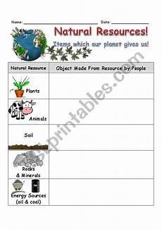 natural resources worksheet esl worksheet by slvrwolf