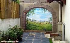 trompe l oeil peinture fresque murale d 233 cor peint et trompe l oeil peinture