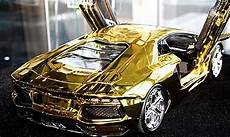 7 5m scale model of lamborghini aventador is fashioned from a half ton block of gold and