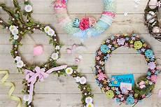 Osterkranz Basteln Anleitung - how to decorate a bunny wreath hobbycraft