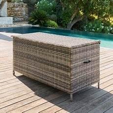 bac de rangement extérieur coffre de rangement petit mobilier de jardin eminza