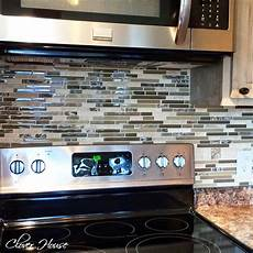 Mosaic Tiles Kitchen Backsplash Clover House Diy Mosaic Tile Backsplash