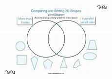 sorting venn diagram worksheets 7776 sorting 2d shapes maths with