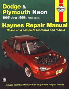 car repair manuals online pdf 1999 dodge neon auto manual dodge neon plymouth neon repair manual 1995 1999 haynes