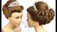 wedding updo bridal prom hairstyle for medium hair tutorial youtube