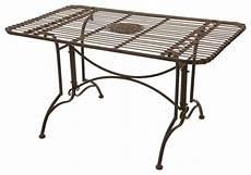 rustic rectangular garden table rust patina traditional