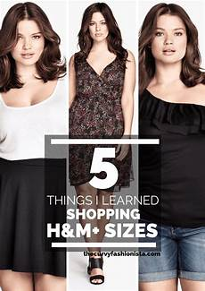 5 things i learned about shopping h m plus sizes the