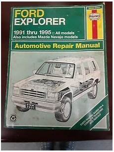 free auto repair manuals 1995 ford explorer seat position control auto repair manual ford explorer incl mazda navajo models 1991 1995 ebay