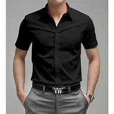 Style Homme Chemise Noir