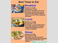 Best time to eat   Ideas & tips!   Best time to eat