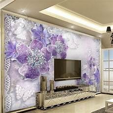 papier peint personnalisé pas cher pas cher personnalis 233 photo papier peint 3d violet bijoux