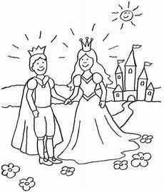 Ausmalbild Prinzessin Pferd Schloss Kostenlose Malvorlage Prinzessin Prinzessin Mit Prinz Vor