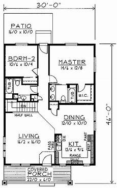 2 br 2 ba house plans home plans homepw74380 1 200 square feet 2 bedroom 2