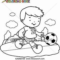 spielen soccer ausmalbilder seite clipart