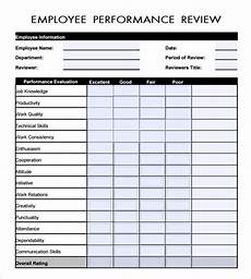 free 41 sle employee evaluation forms in pdf