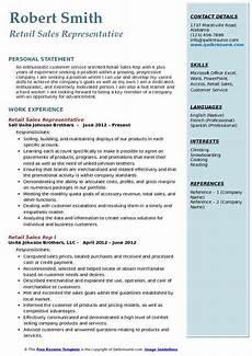 retail sales rep resume sles qwikresume