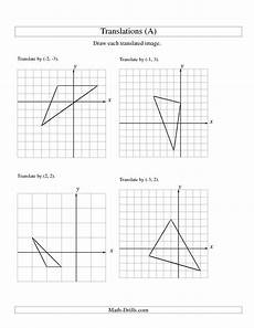 translation of 3 vertices up to 3 units a math worksheet freemath geometry worksheets