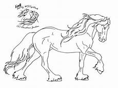 friesian lineart for da use by wstopdeck on deviantart