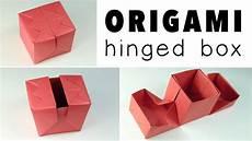 origami hinged gift box tutorial diy