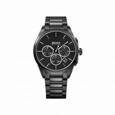 boss uhren herren schwarz hugo mens black chronograph hb 1513365 mens