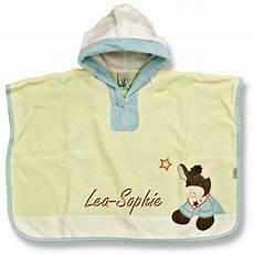 sterntaler poncho mit namen bestickt 70x50cm handtuch baby
