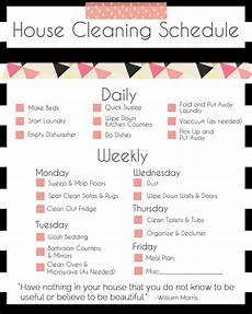 Keeping The House Clean Every Week A Schedule