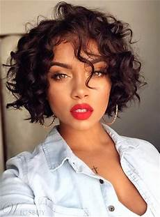 bob hairstyle short curly synthetic hair capless african