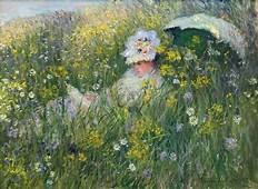 In The Meadow 1876  Claude Monet WikiArtorg