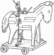 malvorlage trojanisches pferd pony