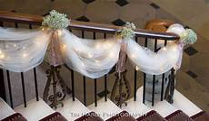 tulle lights and baby s breath staircase decorations stairway decorations tulle wedding