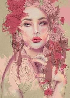 a arte da cor just illustrations arte com l 225 pis desenhos de meninas e arte pl 225 stico
