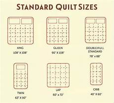 standard quilt size chart quilts reference materials
