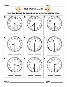 time worksheets hour and half past 3019 measurement time to the half hour 30 half past by team talmadge
