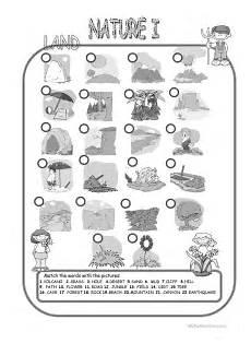 nature elements worksheets 15116 nature elements land matching worksheet free esl printable worksheets made by teachers