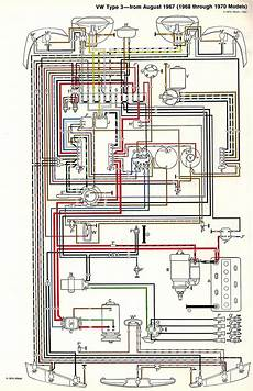 1972 vw thing wiring diagram thesamba type 3 wiring diagrams