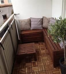 holz sitzbank in l form mit stauraum f 252 r balkon haus