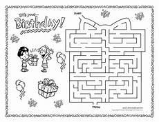 my birthday printable worksheets 20257 birthday maze tim s printables