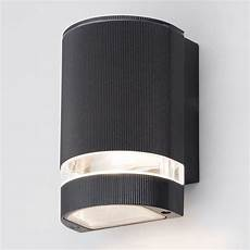 holme small up or down light outdoor wall light black from litecraft