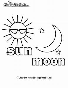 sun moon coloring page a free coloring printable