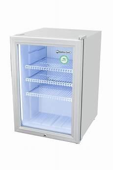 mini kühlschrank mit glastür glast 252 rk 252 hlschrank silber led innenbeleuchtung