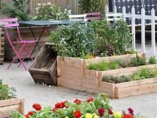 jardin potager sur terrasse en terrasse composer joli potager