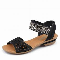 damen schwarz billig rieker sandale sandalen