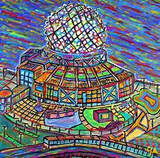 science world vancouver alive in color painting by aiyadurai