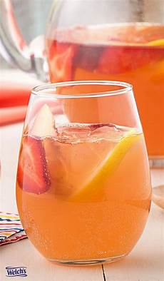 strawberry lemonade sangria recipe using welch s sparkling