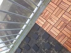 vlonders op zinken balkon